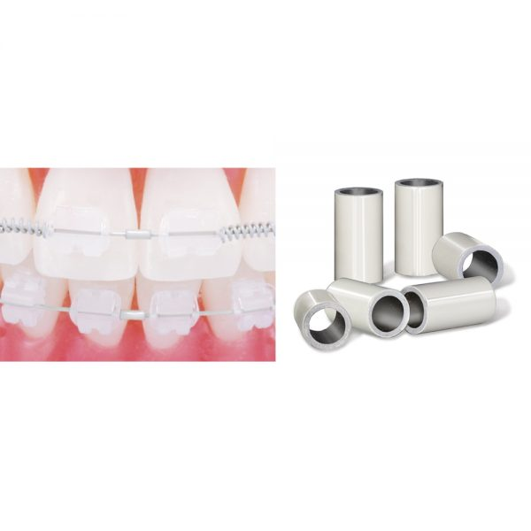 Wire Products Tooth Tone Coated Archwire and Accessories Tooth Tone Coated Crimpable Mini Stops – Large