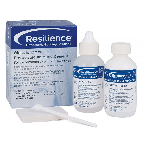 Bonding Supplies  Resilience Glass Ionomer Powder/Liquid Band Cement